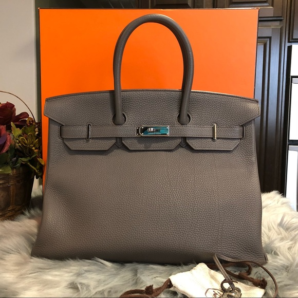 488a6ba01832 ... ireland hermès birkin 35 etain t stamp and palladium bag 81f75 71e26